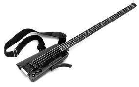 Бас гитара с почти отсутствующим корпусом